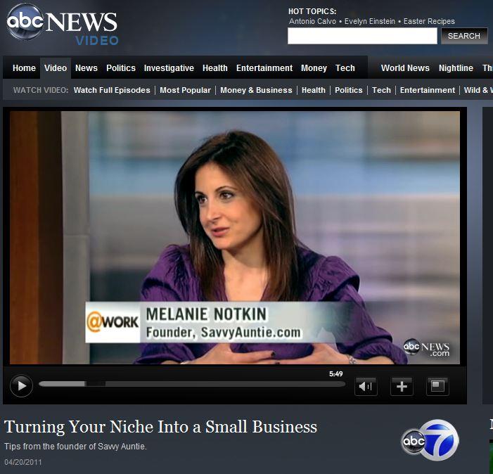 ABC News Now At Work Melanie Notkin Tory Johnson