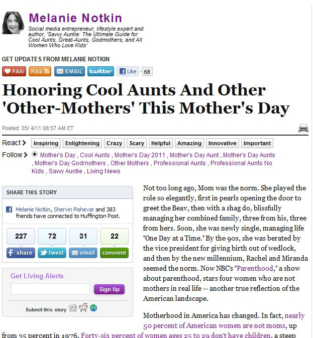 Huffington Post_Savvy Auntie