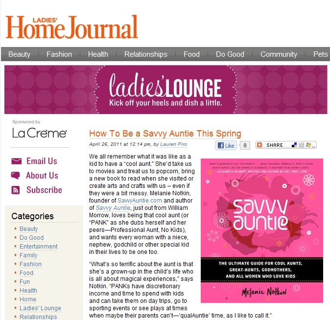 Ladies Home Journal_Savvy Auntie