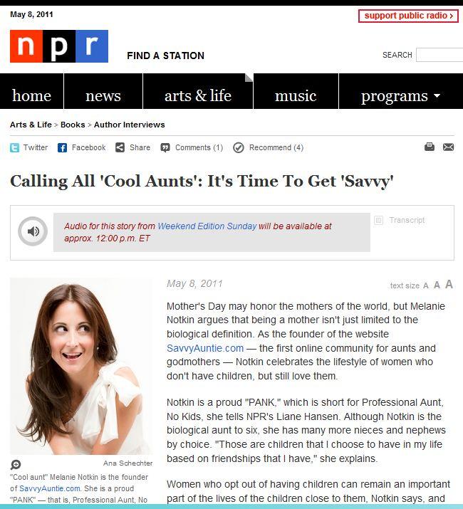 NPR_Savvy Auntie_Melanie Notkin
