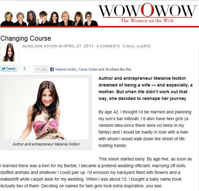wowOwow: Melanie Notkin Changing Course