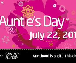 Fourth Annual Auntie's Day™ Announced