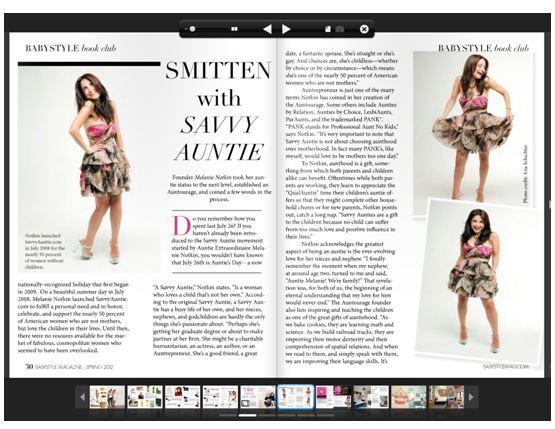 babystyle Magazine Smitten with Savvy Auntie