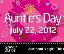 A Message for Moms: Up the Auntie