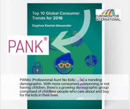 """PANK, SAVVY AUNTIE, AND MELANIE NOTKIN NAMED IN EUROMONITOR INTERNATIONAL """"TOP 10 GLOBAL CONSUMER TRENDS FOR 2016″ REPORT"""