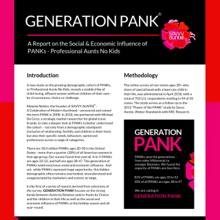 GENERATION PANK: A Report on the Social & Economic Influence of PANKs - Professional Aunts No Kids
